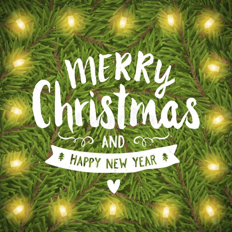Tarjeta de felicitación del mano-dibujo de la Feliz Navidad libre illustration