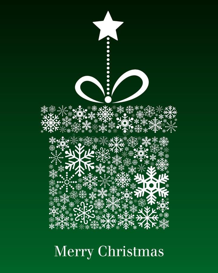 Tarjeta de felicitación del regalo de la Navidad ilustración del vector