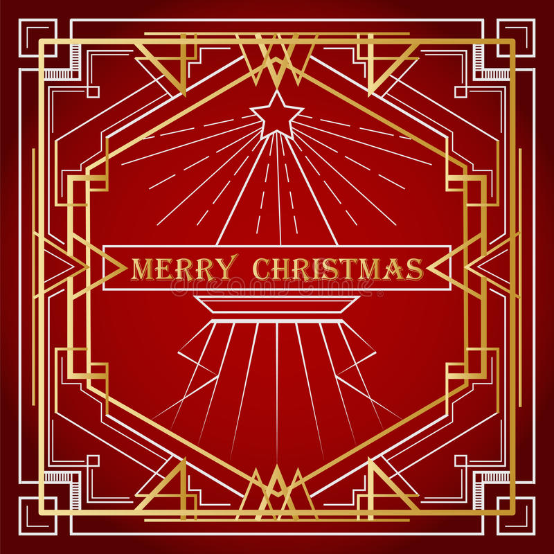 Tarjeta de felicitación del vector a Navidad Deseos de la Feliz Navidad stock de ilustración