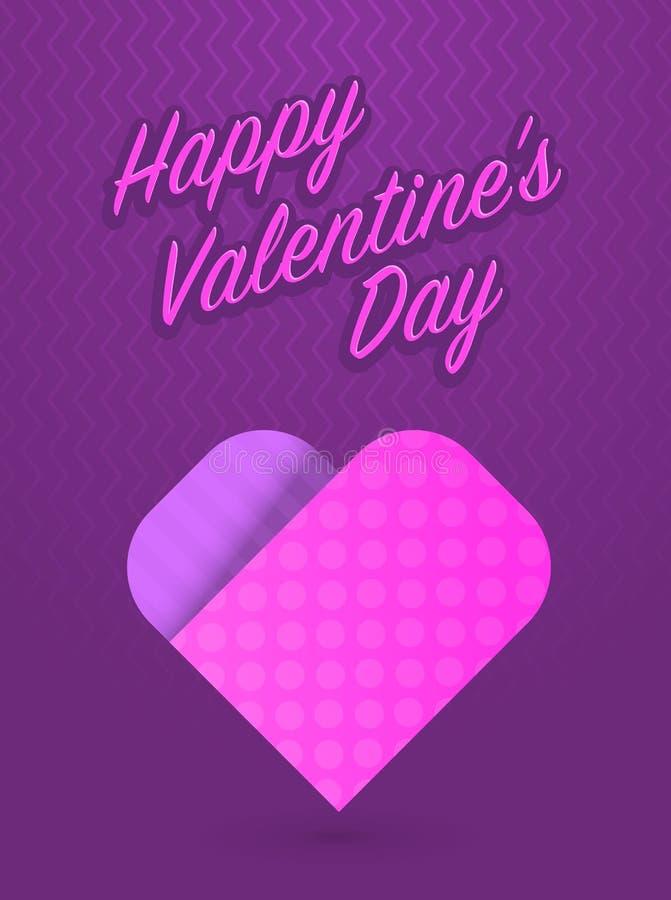 Tarjeta de felicitación del vector para el día de tarjetas del día de San Valentín del santo ilustración del vector