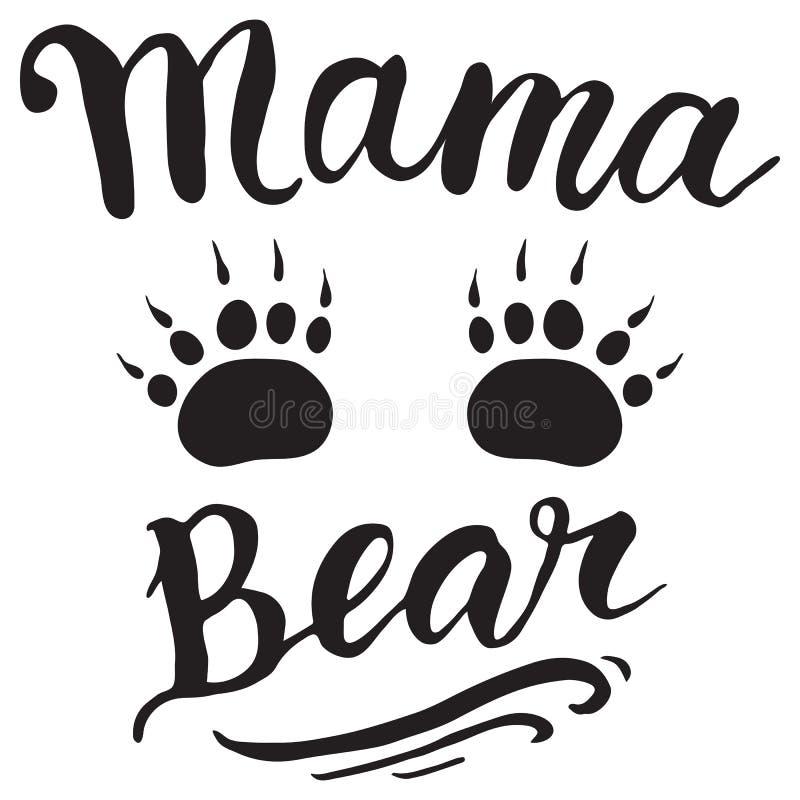 Tarjeta de felicitación del vector para la decoración de la etiqueta del regalo Oso de la mamá libre illustration