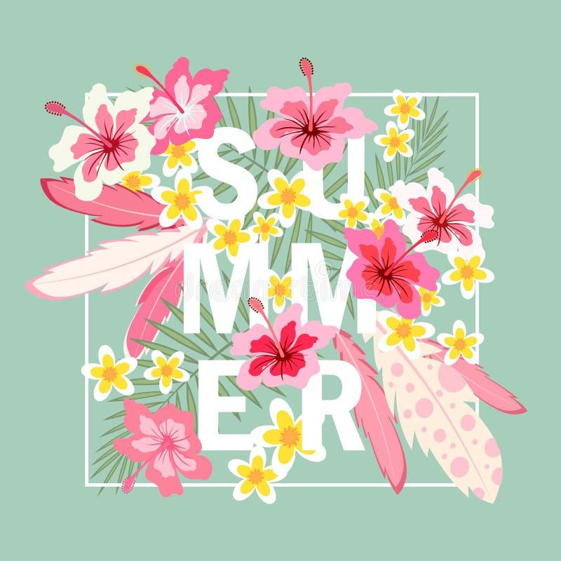 Tarjeta de felicitación del verano libre illustration