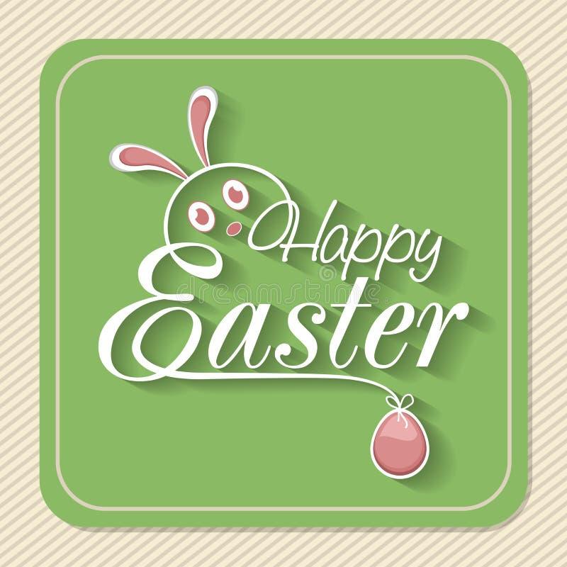 Tarjeta de felicitación del vintage para la celebración feliz de Pascua libre illustration