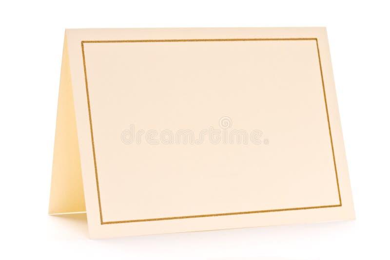 Tarjeta de felicitación en blanco fotografía de archivo