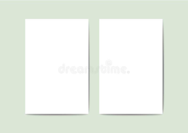 Tarjeta de felicitación en blanco para su diseño libre illustration