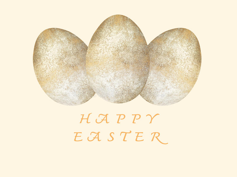 Tarjeta de felicitación feliz de Pascua Huevos de Pascua Día de Pascua stock de ilustración