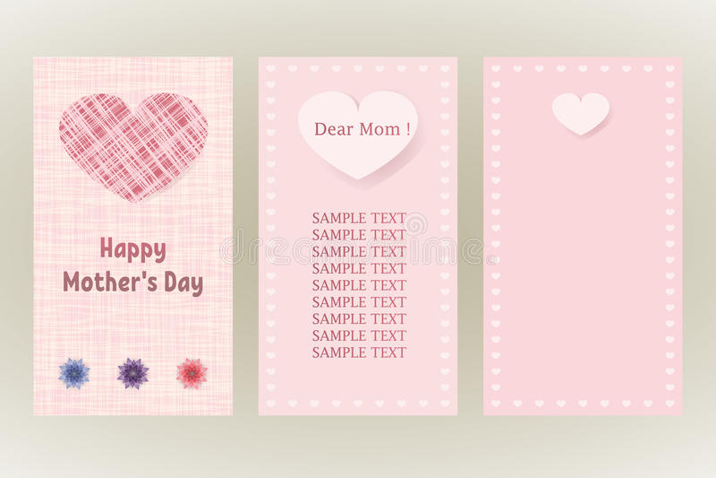 Tarjeta De Felicitación Feliz Del Día De Madres Tres