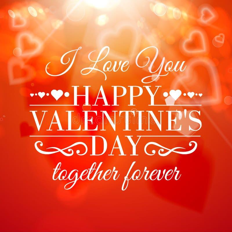 Tarjeta de felicitación feliz del día de tarjeta del día de San Valentín. libre illustration