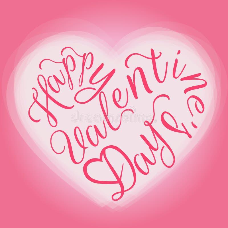 Tarjeta de felicitación feliz del día de tarjeta del día de San Valentín stock de ilustración