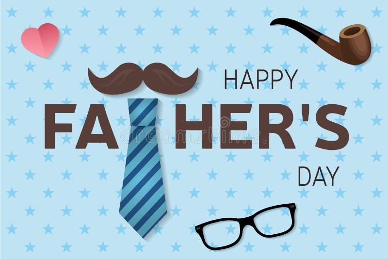 Tarjeta de felicitación feliz del día del padre s Cartel feliz del día del padre s Vector ilustración del vector