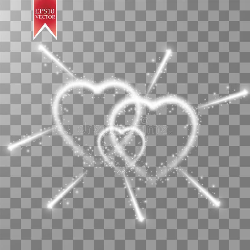 Tarjeta de felicitación feliz del día de tarjetas del día de San Valentín Te amo 14 de febrero Fondo del día de fiesta con tres c libre illustration