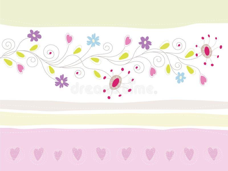 Tarjeta de felicitación floral libre illustration