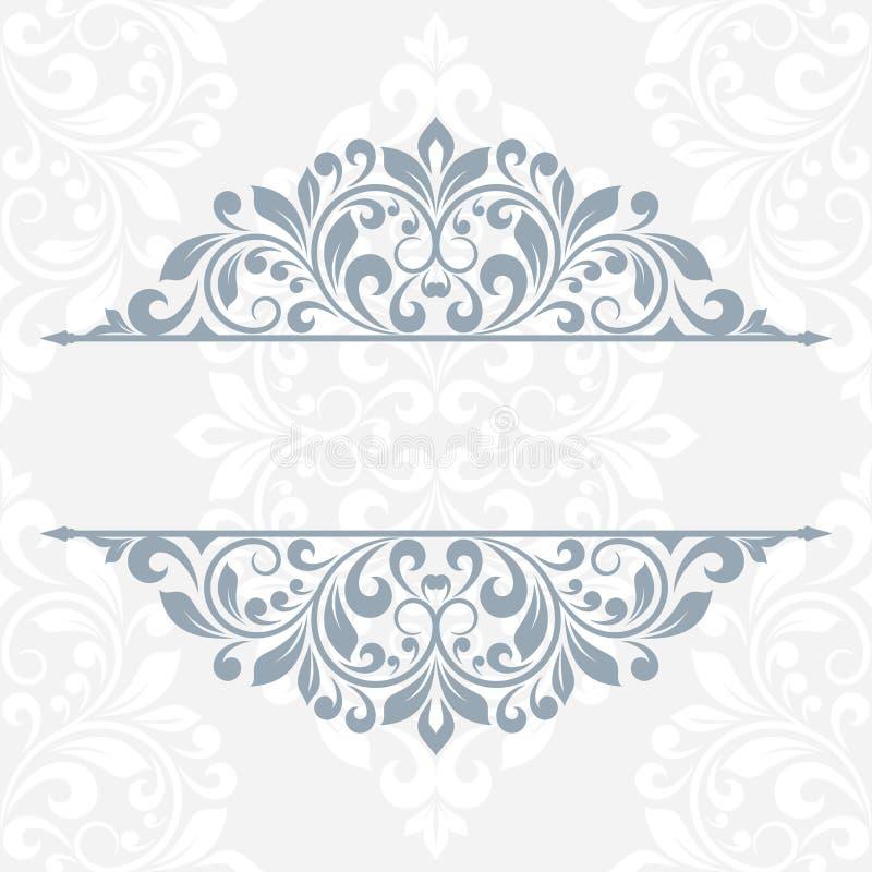 Tarjeta de felicitación floral stock de ilustración