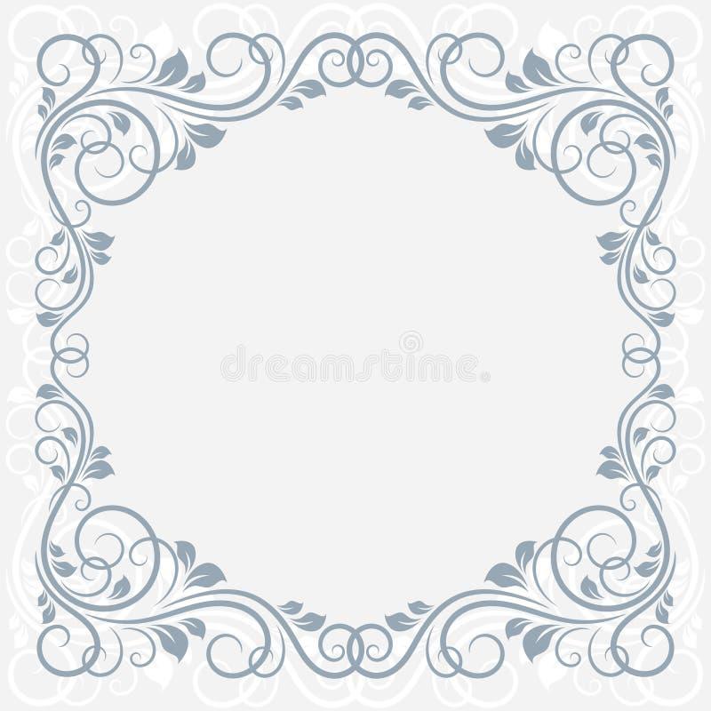 Tarjeta de felicitación floral. ilustración del vector