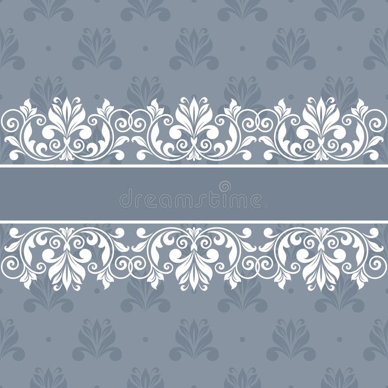 Tarjeta de felicitación floral ilustración del vector