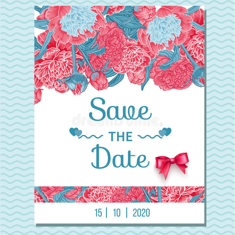 Tarjeta de felicitación floral de la invitación ilustración del vector