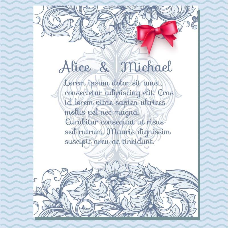Tarjeta de felicitación floral de la invitación libre illustration