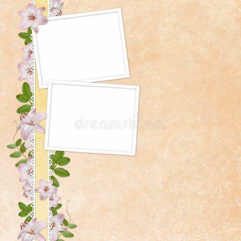 Tarjeta de felicitación floral elegante stock de ilustración