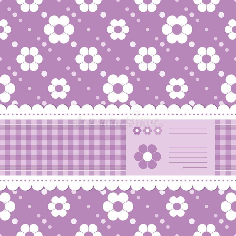 Download Tarjeta De Felicitación Florida Púrpura Ilustración del Vector - Ilustración de muchacha, lindo: 41907003