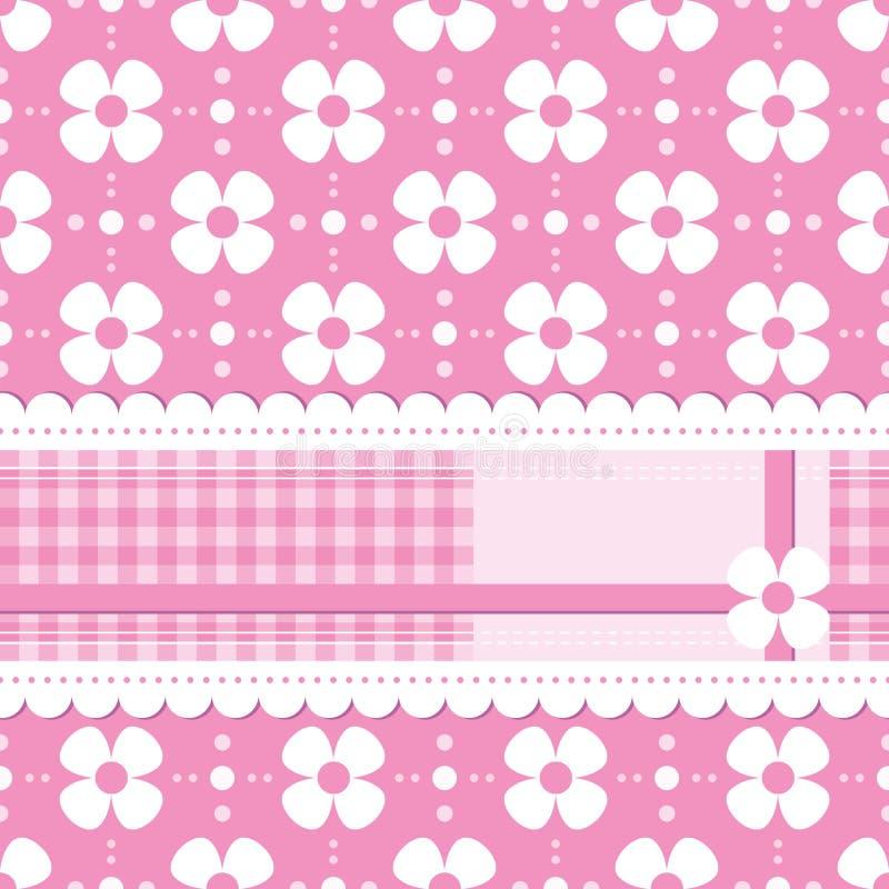 Download Tarjeta De Felicitación Florida Rosada Ilustración del Vector - Ilustración de decorativo, muchacha: 41906916