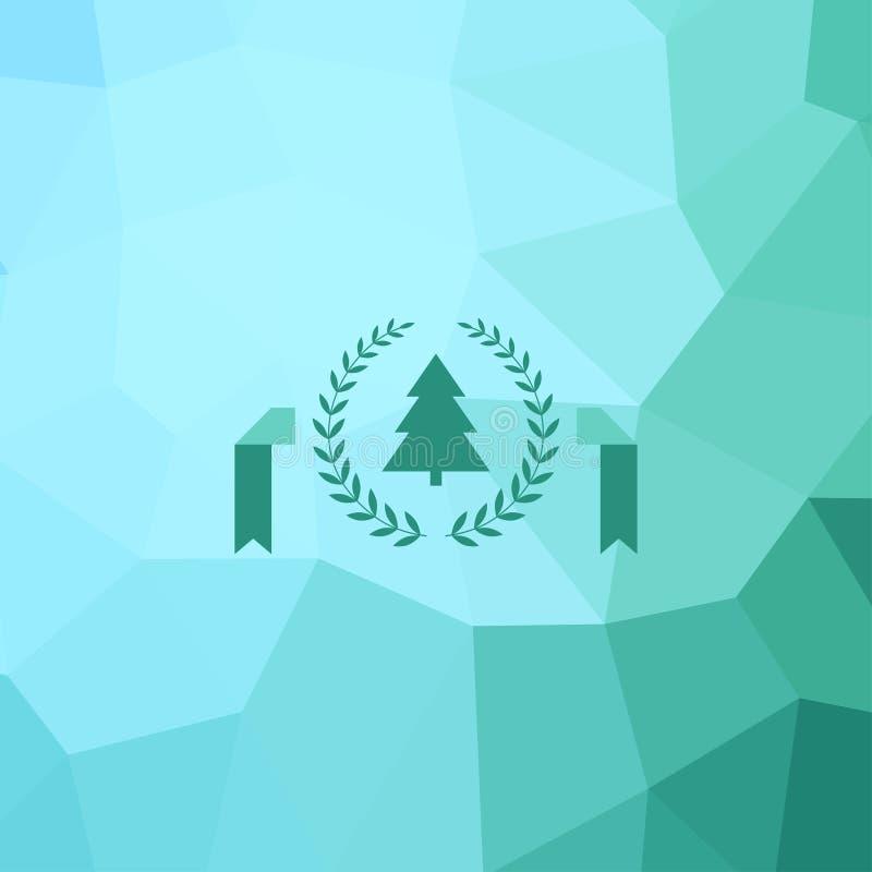 Tarjeta de felicitación geométrica del diseño del árbol de navidad de la Feliz Año Nuevo libre illustration