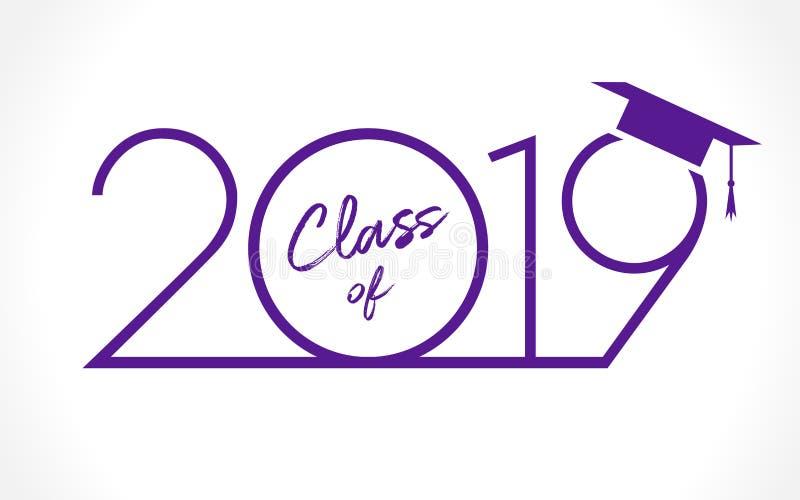 Tarjeta De Felicitación De 2019 Graduados Ilustración Del