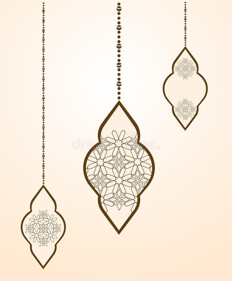 Tarjeta de felicitación hermosa de Ramadan Kareem Vector Illustrator EPS 1 stock de ilustración
