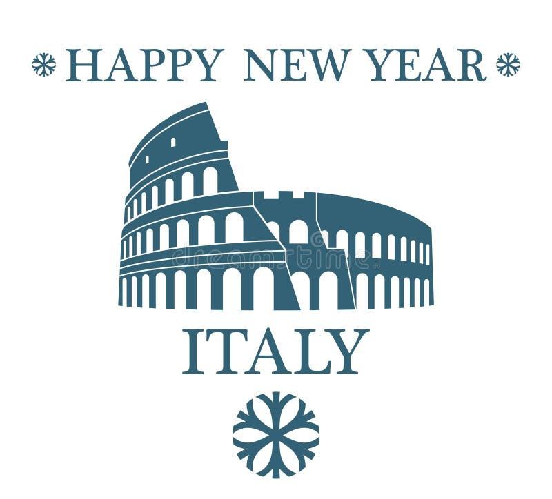 Tarjeta de felicitación Italia ilustración del vector