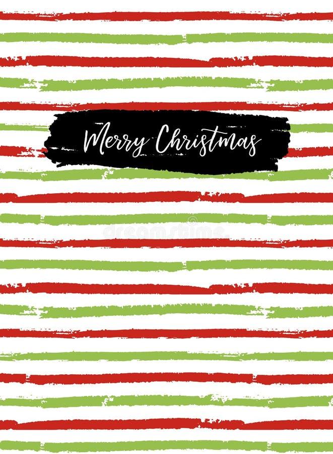 Tarjeta de felicitación de la Feliz Navidad, cubierta del sketchbook ilustración del vector