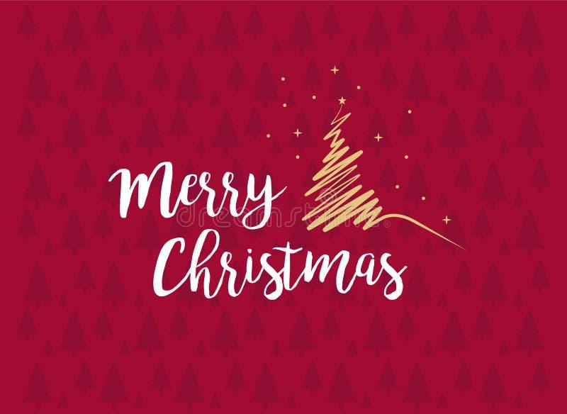 Tarjeta de felicitación de la Feliz Navidad e imagen del vector de la Feliz Año Nuevo libre illustration