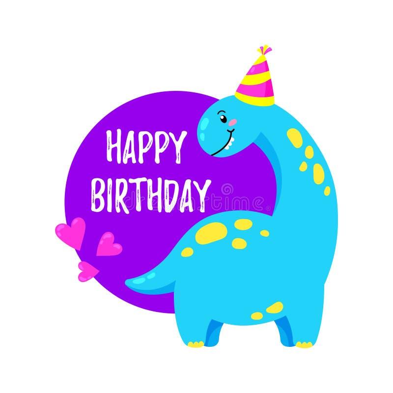 Tarjeta De Felicitación Linda Con Un Dinosaurio Invitación