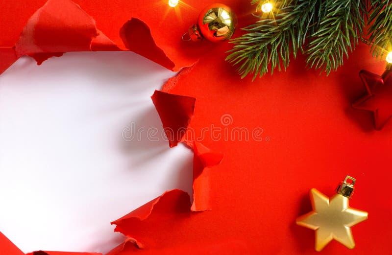 Tarjeta de felicitación de los días de fiesta del diseño o bandera de la estación de la venta del invierno; Chri fotografía de archivo libre de regalías