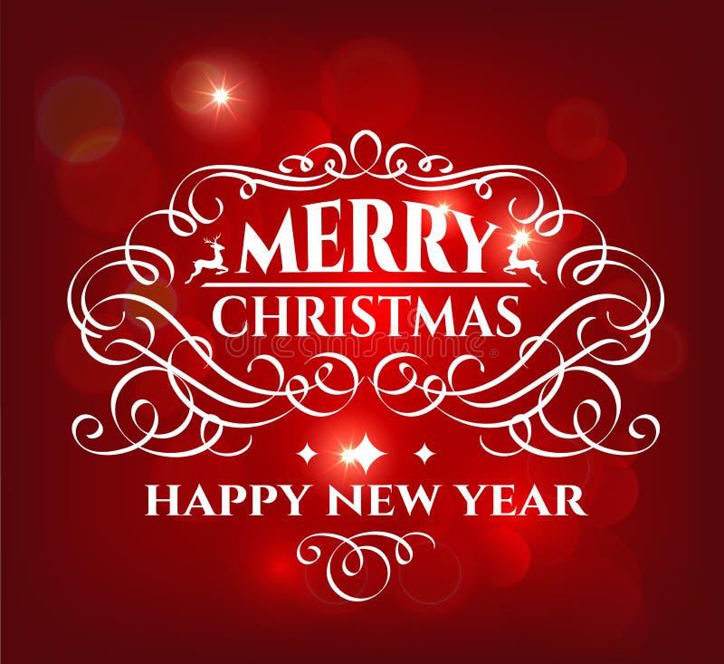 Tarjeta de felicitación de los días de fiesta de la Feliz Navidad libre illustration