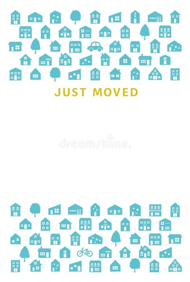 Tarjeta de felicitación móvil de la casa libre illustration
