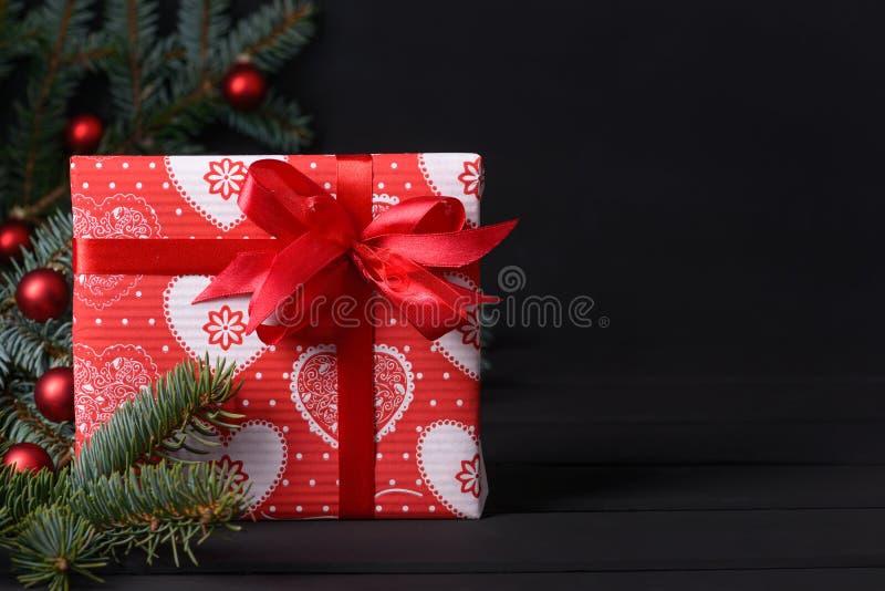 Tarjeta de felicitación de Navidad fotos de archivo libres de regalías
