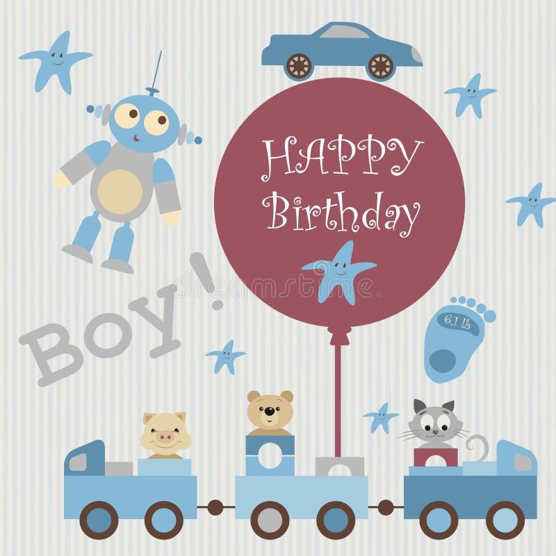 Tarjeta de felicitación para baby3 stock de ilustración