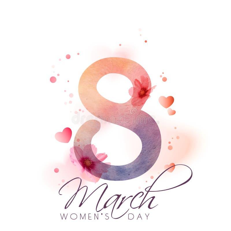 Tarjeta de felicitación para el día de las mujeres ilustración del vector