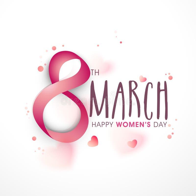 Tarjeta de felicitación para el día de las mujeres stock de ilustración