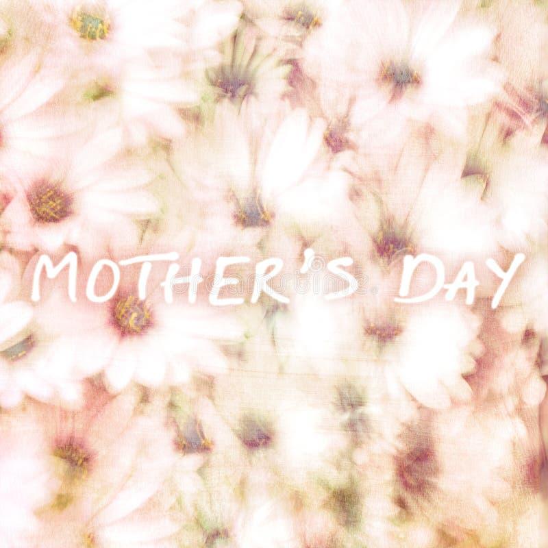 Tarjeta de felicitación para el día de madres fotografía de archivo
