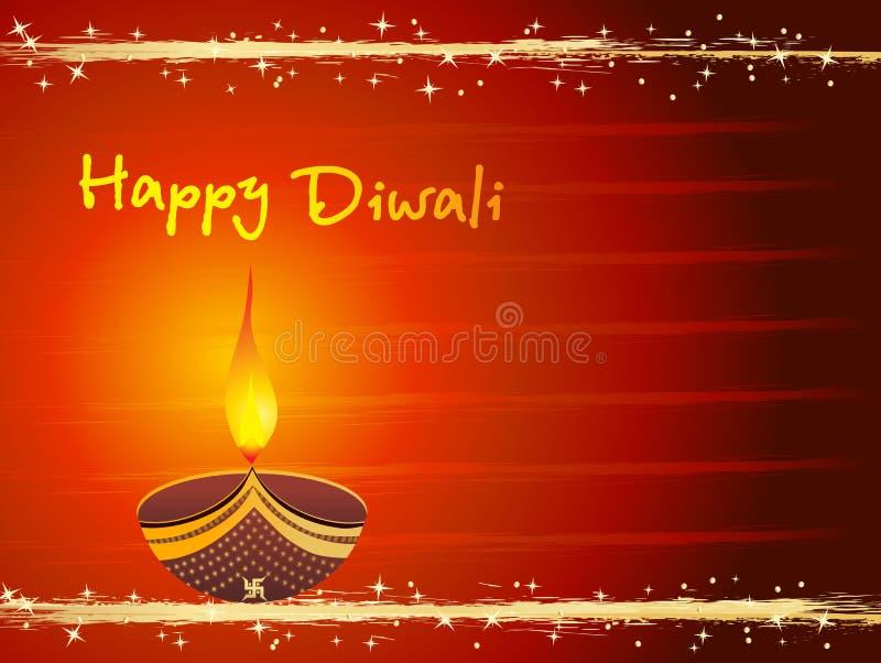 Tarjeta de felicitación para la tarjeta aislada del diwali ilustración del vector