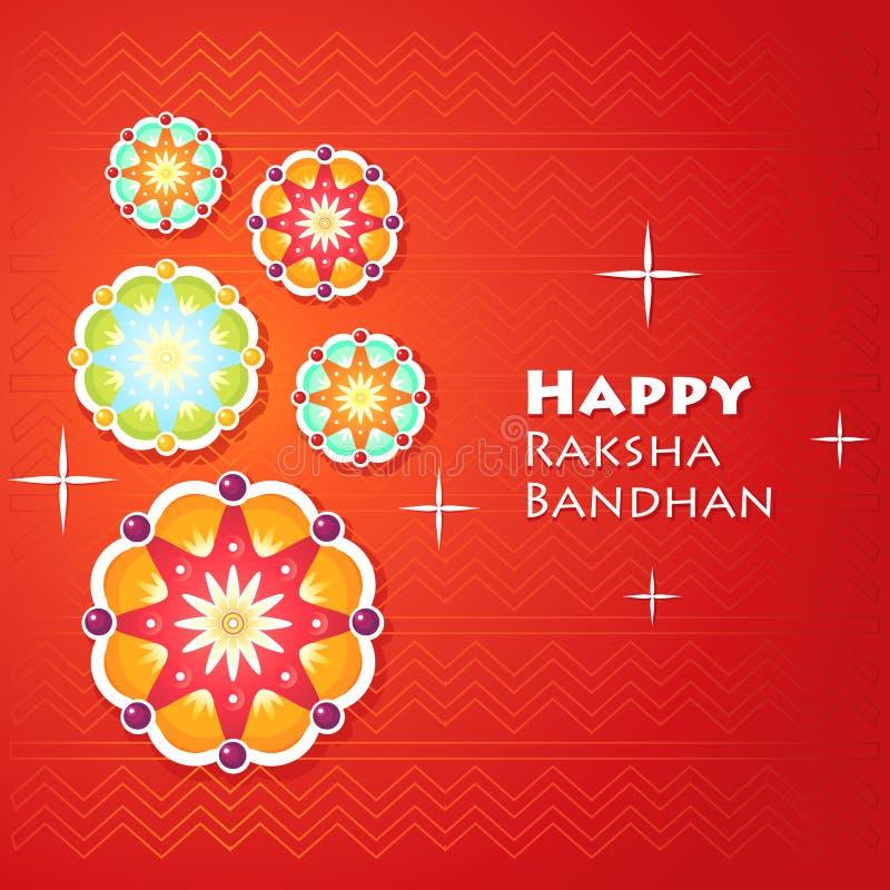 Tarjeta de felicitación para Raksha Bandhan fotos de archivo libres de regalías