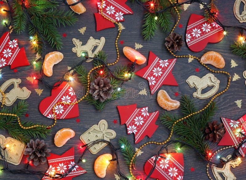Tarjeta de felicitación por Año Nuevo o la Navidad imagen de archivo libre de regalías