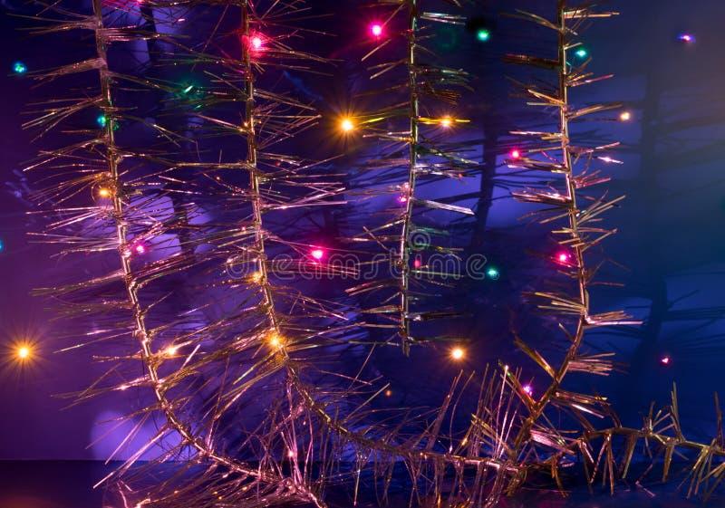 Tarjeta de felicitación por Feliz Navidad y Feliz Año Nuevo fotografía de archivo libre de regalías