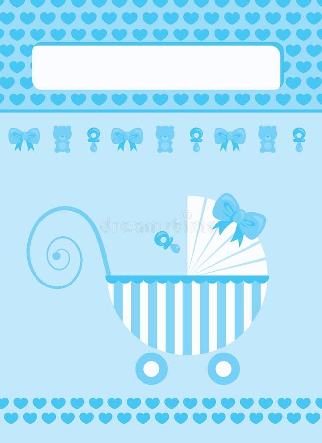 Tarjeta de felicitación recién nacida del bebé libre illustration