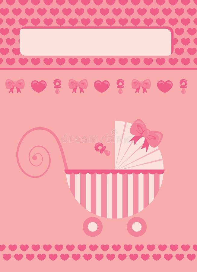 Tarjeta de felicitación recién nacida del bebé stock de ilustración