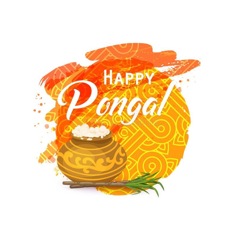 Tarjeta de felicitación tailandesa de Pongal stock de ilustración