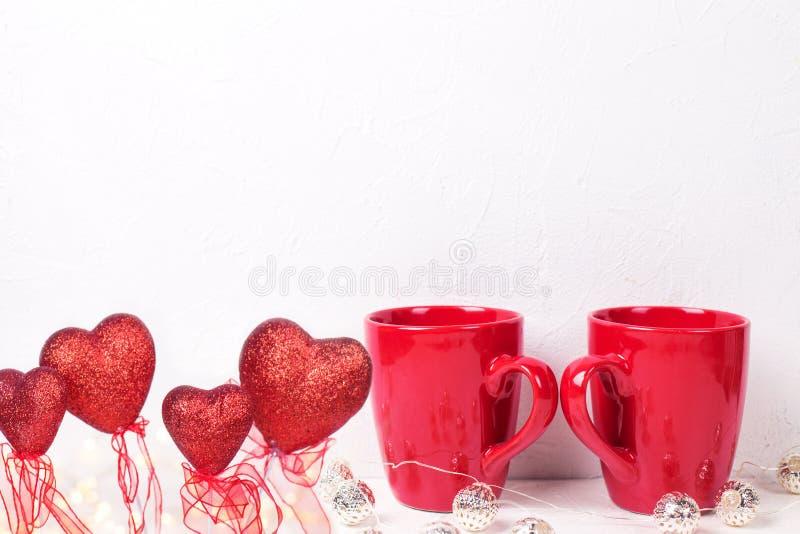 Tarjeta de felicitaci?n del d?a de San Valent?n del St fotos de archivo