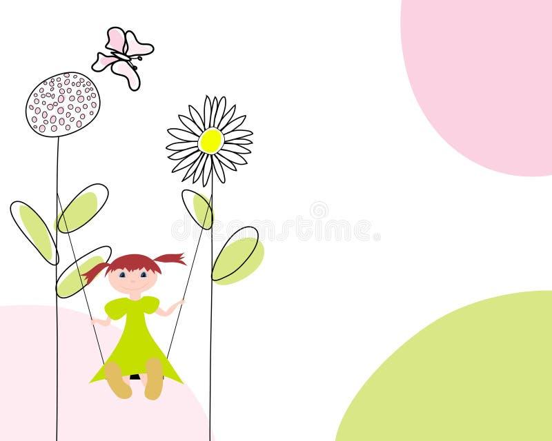 Tarjeta de felicitaciones stock de ilustración