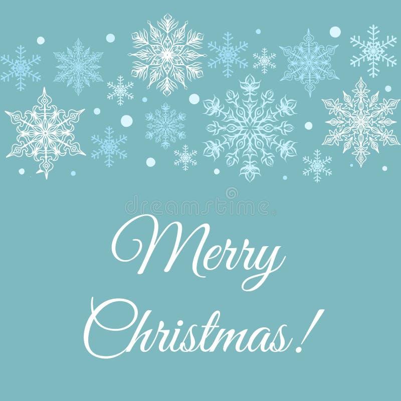 Tarjeta de felicitaciones de la Feliz Navidad ilustración del vector