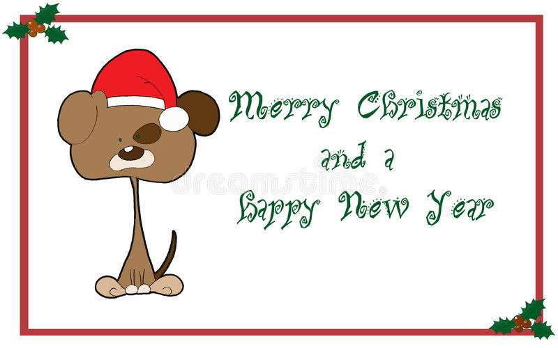 Tarjeta De Felicitaciones De La Navidad Imagen de archivo libre de regalías